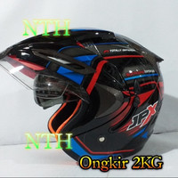 Helm JPX Supreme Motif Double Visor Bukan Helm LTD