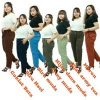 8L-6L-5L-4L -CELANA WANITA BAGGY PANTS JUMBO BIG SIZE-CHINOS ASLI