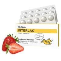Interlac Strawberry Tablet Kunyah isi 30 probiotik