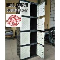 lemari plastik lemari pakaian 2 pintu naiba kayu