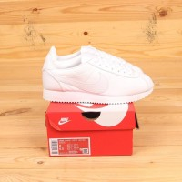 Sepatu Nike Cortez Leather Triple White Premium