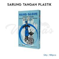 Hand Glove Sarung Tangan Plastik Isi 100 Lembar