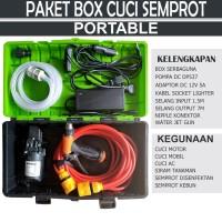 Paket Box Cuci Semprot Portable Untuk cuci motor/mobil/ac 100PSI