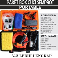 Paket Box Cuci Semprot Portable Untuk cuci motor/mobil/ac 130PSI