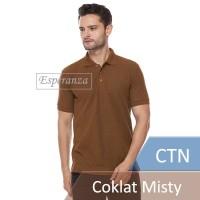 Polo Shirt Polos Esperanza CTN Coklat Misty Lacoste Compositte Cotton
