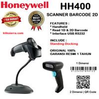 HONEYWELL HH400 2D Handheld Scanner Barcode Reader USB HH-400 2Dimensi