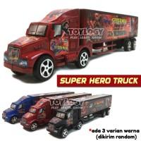 Mainan Anak Laki Laki Mobil Truk Superhero Container Truck Trailer