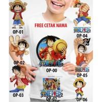 Kaos Baju tshirt anak Custom One Piece