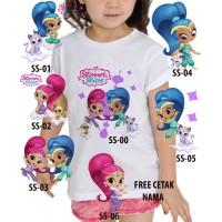 Kaos Baju tshirt anak Custom Shimmer and Shine