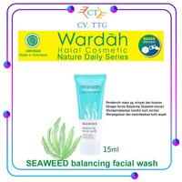 Wardah Nature Daily SEAWEED Balancing Facial Wash 15ML