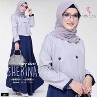 Baju Gamis Wanita Terbaru Sherina Dress / Gamis Lebaran Murah Terbaru