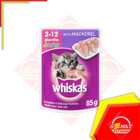 Makanan Kucing Whiskas Junior 85 Gram / Sachet / Pouch