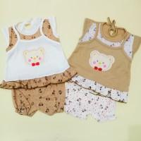 Baju Setelan Bayi Perempuan Motif Bear 2