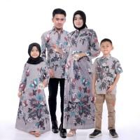 gamis batik couple baju ayah ibu dan anak baju keluarga terbaru