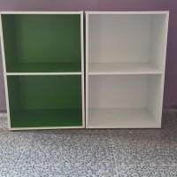 Rak Buku anak serbaguna minimalis susun 2 kayu murah tingkat warna
