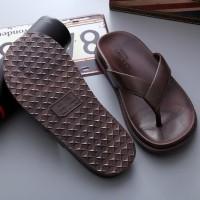 Sandal Karet Flip Flop - Sandal Pria Dan Wanita - Sandal Karet Import - Hitam, 40