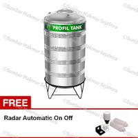 Tangki Air / Toren / Tandon Profil Stainless - 3460 Liter - PS 3900