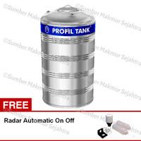 Tangki Air / Toren Profil Stainless Profon Datar 3400 Liter PS 3900D P