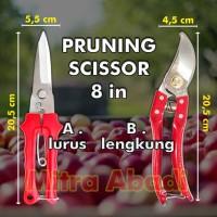 Gunting Dahan Tanaman/Pruning Scissor 8 INCH (8) MULTIFUNGSI