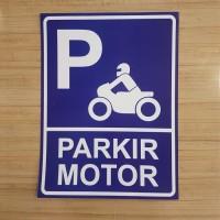 SIGN PLAT PARKIR MOTOR 40x60CM ALUMINIUM K3 SAFETY rambu