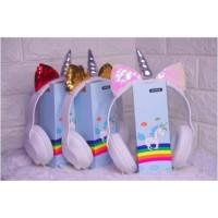 Headphone Karakter / Headset Cartoon / Headset Bando Motif Unicorn