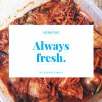 Kimchi Fresh Sawi Putih dengan Bumbu Impor Korea