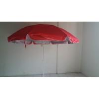 Payung Pantai /dagang Parasol polos kain susun double diamater 230 cm