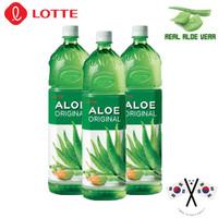Lotte Aloe Vera Drink 1.5 Liter - Minuman Korea Rasa Lidah Buaya