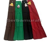 rok rempel panjang sekolah sd merah/hijau/coklat/hitam