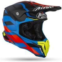 AIROH TWIST GREAT BLUE MATT | HELM MOTOR CROSS | HELM AIROH ORIGINAL