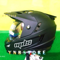 Helm Fullface Supermoto MDS Super Pro Solid Black doff Double Visor