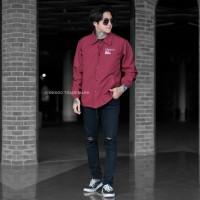 jaket pria coach Matt taslan / jaket outdoor pria premium - Merah, M