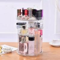 Rak Organizer Acrylic Make Up | Rak Kosmetik Putar 360 Derajat