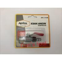 Keran Kompressor CHROME 1/4 inch APRICA / Air Cock / Ball Valve