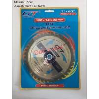 Mata Circular 7 inch x 40 T / Circular Saw Blade / Mata Potong Kayu