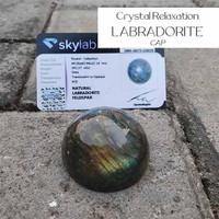 Crystal Healing Relaxation Labradorite Cap (BC120)