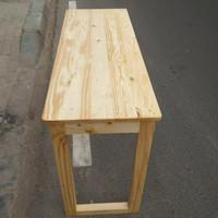 Furniture meja minimalis multifungsi kayu jati belanda asli
