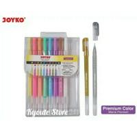 Joyko Gel Pen Set 10 Warna Soft Cocok Kertas Putih / Hitam Menggamba
