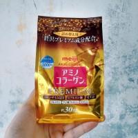 MEIJI AMINO COLLAGEN PREMIUM Refill 214 Gram Original (Made in Japan)