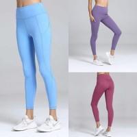 celana sport legging kantong olahraga senam gym fitness wanita 180