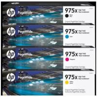 PAKETAN TINTA HP 975X BLACK DAN 975X COLOR (C.Y.M) ORIGINAL