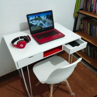 meja kantor laci minimalis 100x50