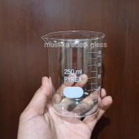 Beaker glass - gelas kimia 250 ML pyrex asli