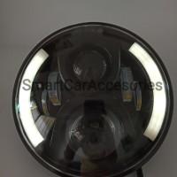 LAMPU HEADLAMP LED DAYMAKER 7 INCHI SPIDER EYE 2 WARNA