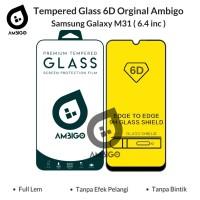 Tempered Glass 6D Samsung Galaxy M31 Full Cover Color Ambigo