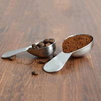 Espresso Coffee Bean & Tea Measuring Tamper Spoon Stainless Steel