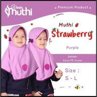 Jilbab Anak Usia 6-24 bulan Vania Muthi Strawberry S Hijab Bahan Adem