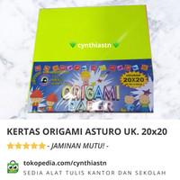 KERTAS LIPAT ORIGAMI ASTURO Warna Warni UK. 20x20 [100% ORIGINAL]