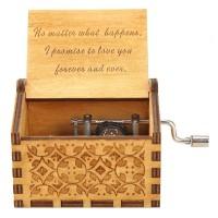 Kotak Musik Kayu Wooden Music Box Kado Unik