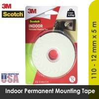 Indoor Permanent Mounting Double Tape 3M 12 mm x 5 mm Scotch 110